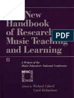 The New Handbook of Research on Music Teaching and Learning a Project of the Music Educators National Conference