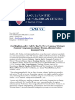 LULAC  - Civil Rights Leaders Call for End to Zero-Tolerance Policy  Demand Congress Investigate Trump Administration Incompetency.pdf