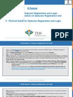 E-Tutorial - Deductor Registration and Login