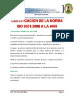 Certificacion de La Norma Iso 9001