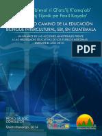 Balance Sobre Educación Bilingue Intercultural en Guatemala Año 2013