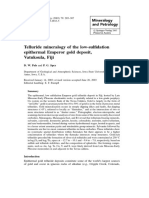 Telluride Mineralogy of the Low-sulfidation Epithe