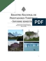 Registro Nacional de Prestadores Turísticos Informe Semestral