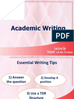 Acdemic Writing