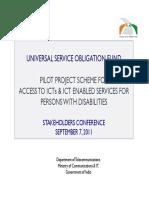 USOF India Scheme PwDs a.G.gulati