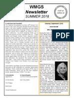 WMGS Newsletter - Summer 2018