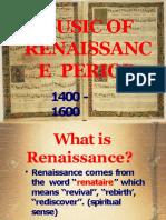 Music of Renaissance Period