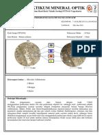 bahan reconais praktikum petrografi daerah studi kulon progo