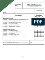 Engineering Development Quality Inspection Test Plan ITP