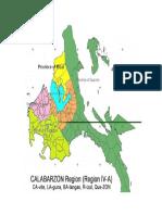 Calabarzon Map