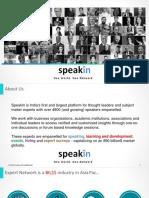 SpeakIn Presentation About Us 240618