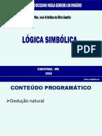 Lógica Simbólica - SDNSR 2018 - 25-05-2018 Versão B
