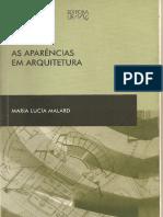 Livro - As Aparências Em Arquitetura