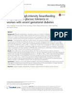 The Effect of High-Intensity Breastfeeding