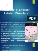 Trauma & Stressor-Related Disorders
