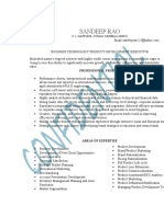 , Marketing and Product Development CV