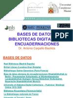 Bases de Datos y Galerias de Encuadernaciones Artísticas