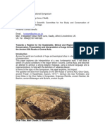 Towards a Regime for the Sustainable, Ethical and Regionally Maintainable Conservation, Presentation and Interpretation of Large Archaeological Sites on the Ancient Silk Roads of Central Asia