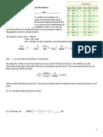 Unit Conversion Worksheet Practice