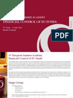 Summer-Academy Financial Control of EU Funds PR