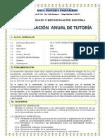PROGRAMACION ANUAL DE TUTORÍA 6°