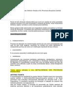 Depósitos Sn Em Greisen Antônio Vicente e Iriri
