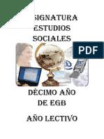 17) Asignatura Estudios Sociales 10mo.