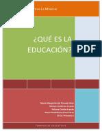 Concepto-dimensiones y Tipos de Educación