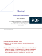 Working Techniques Reading