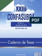 Caderno de Teses - Xxiii Confasubra - 2018
