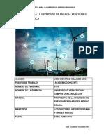 Propuesta Para La Inversión de Energía Renovable en México