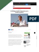 21-06-18 Firma Miguel Castro compromiso por la paridad de género
