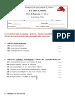 ficha de avaliação- 5ºano - matematica