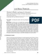 Aero of Small Vehicle Models