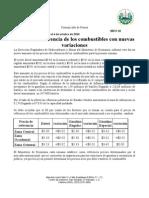 Precio de referencia de los combustibles 27-9-10