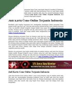 Judi Kartu Ceme Online Terjamin Indonesia
