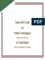 Suras del Coran en orden Cronologico y Tradicional.pdf