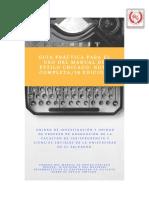 Manual de Estilo Chicago 16 Edición 2017