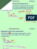 Mechanics 1 Resolving Forces 270910