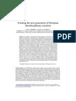 Forming Interdisciplinary Scientists