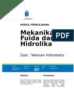 Modul Mekanika Fluida Dan Hidrolika [TM7]