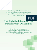 The Right to Education for Persons with Disabilities Overview of the Measures Supporting the Right to Education for Persons with Disabilities reported on by Member States_232592 e