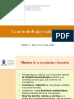 UGM Metodología Cualitativa I Sesión 4