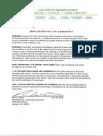 062418 Pawnee Fire Emergency Proclamation