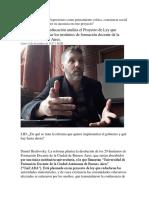Análisis de Proyecto Que Elimina Terciarios Daniel Brailovsky