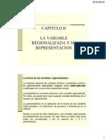 LA VARIABLE REGIONALIZADA Y SU REPRESENTACIÓN
