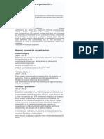 Antiguas Formas de Organización y Distribución