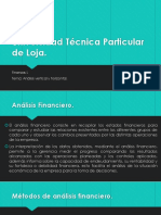 Analisis Vertical y Horizontal. Finanzas I
