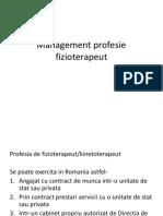 Management Profesie Fizioterapeut