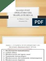 Manejo Post Trasplante Renal